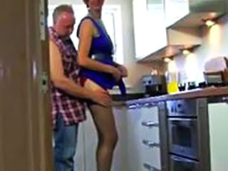 Kitchen Mature Stockings Uniform