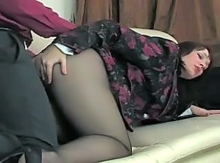 Clothed Doggystyle  Pantyhose Russian