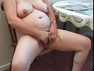 Amateur Chubby Hairy Masturbating Mature