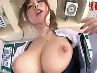 Amazing Asian Big Tits Cute Japanese  Natural Nipples Teacher
