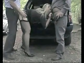 Blowjob British Car Clothed European Hardcore  Outdoor Stockings Threesome