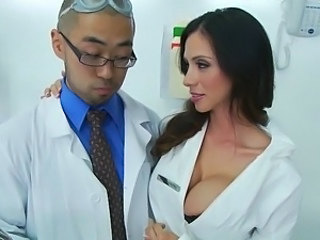 Amazing Big Tits Cute Doctor  Silicone Tits