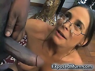 Cumshot Facial Glasses Interracial Mature