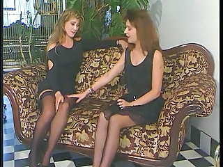 European German Lesbian  Stockings Vintage