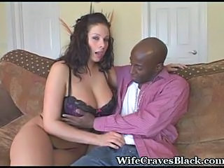 Amazing Big Tits Interracial Lingerie  Pornstar Wife