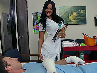 Amazing Big Tits Brunette  Nurse Pornstar Uniform