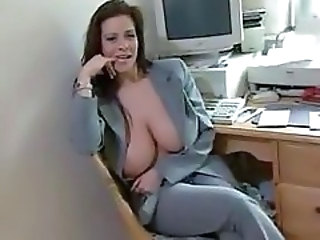Amateur Big Tits  Natural Office Secretary