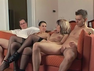 Amateur European German Groupsex  Stockings Swingers