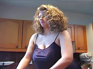 Amateur  Big Tits Kitchen  Natural