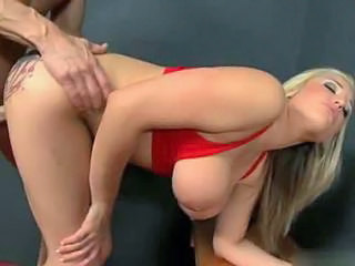 Amazing Big Tits Blonde Doggystyle  Natural Pornstar