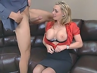 Amazing Big Tits Blonde Blowjob