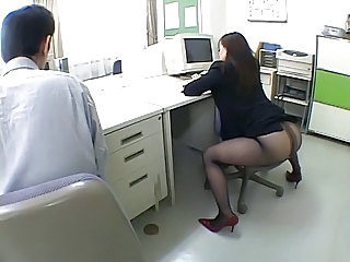 Asian Ass Japanese  Office Pantyhose Secretary