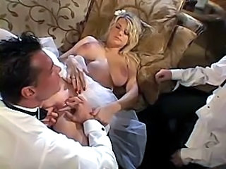 Big Tits Bride  Threesome