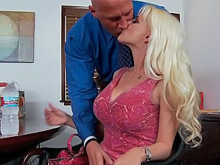 Blonde Kissing   Wife