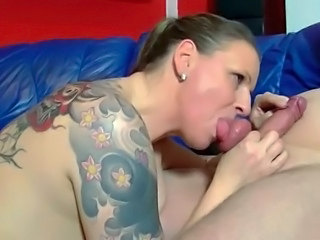 Amateur Blowjob  Tattoo