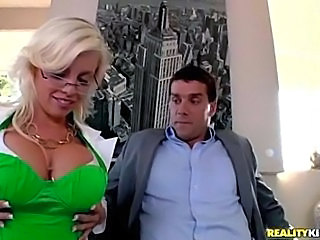 Amazing Big Tits Blonde Glasses  Pornstar