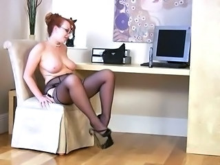 Chubby Glasses  Natural Redhead  Stockings