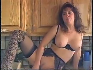 Kitchen Lingerie Mature Stockings