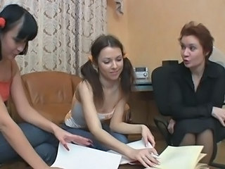 Lesbian Mature Old and Young Pigtail Teacher Teen
