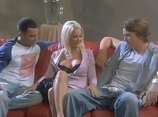 Amazing Blonde  Threesome