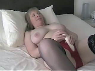 Big Tits Dildo Mature Stockings