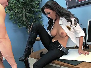 Amazing Brunette  Pornstar Uniform