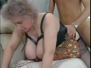 Doggystyle Granny Stockings