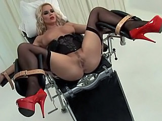 Blonde Bondage  Stockings
