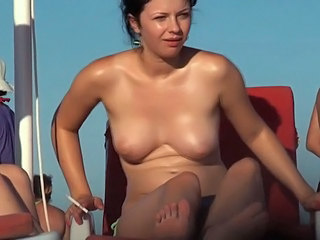 Beach  Nudist Smoking Voyeur