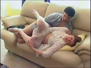 Mom Old and Young Pantyhose Russian