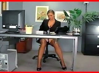 Blonde  Office Stockings