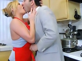 Blonde Kissing Kitchen