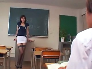 Asian Japanese  School Stockings Teacher