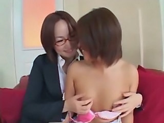 Asian Glasses Japanese Lesbian  Small Tits Teen