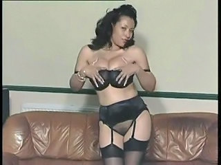 Amazing Big Tits Lingerie  Stockings
