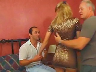 European French Mature Threesome Wife