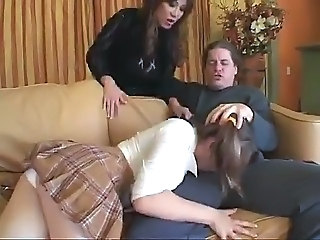 Babysitter Blowjob Clothed  Teen Threesome
