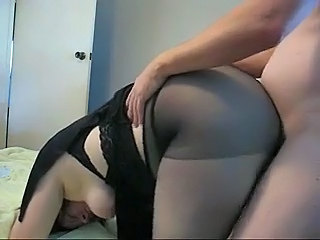 Amateur Chubby Doggystyle  Pantyhose