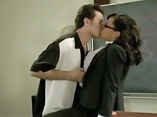 Glasses Kissing  Teacher