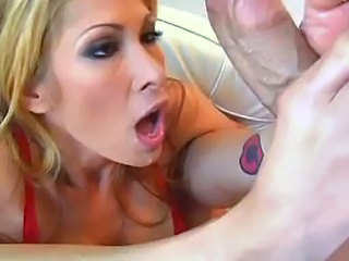 Blonde Blowjob  Pornstar Tattoo