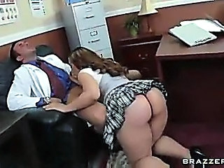 Ass Blowjob Chubby Clothed  Office Skirt