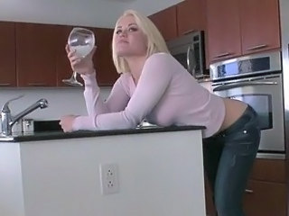 Blonde Cute Drunk Kitchen
