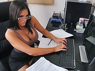 Brunette Cute Glasses  Office Secretary