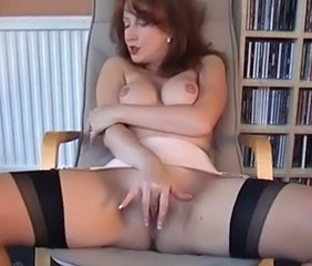 Masturbating  Stockings