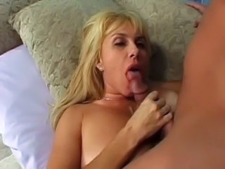 Blonde Blowjob Bus MILF
