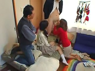 Asian Blowjob Daughter Family Groupsex Mom Old and Young Teen