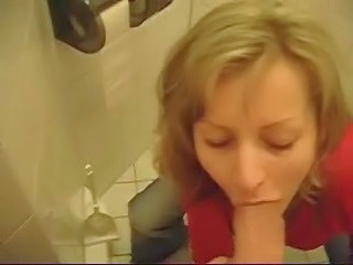 Blonde Blowjob  Mature Toilet