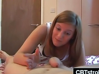 Blonde  Handjob Homemade  Pov