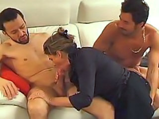 Blowjob Hardcore Mature  Threesome