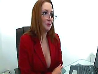 Glasses  Office Redhead